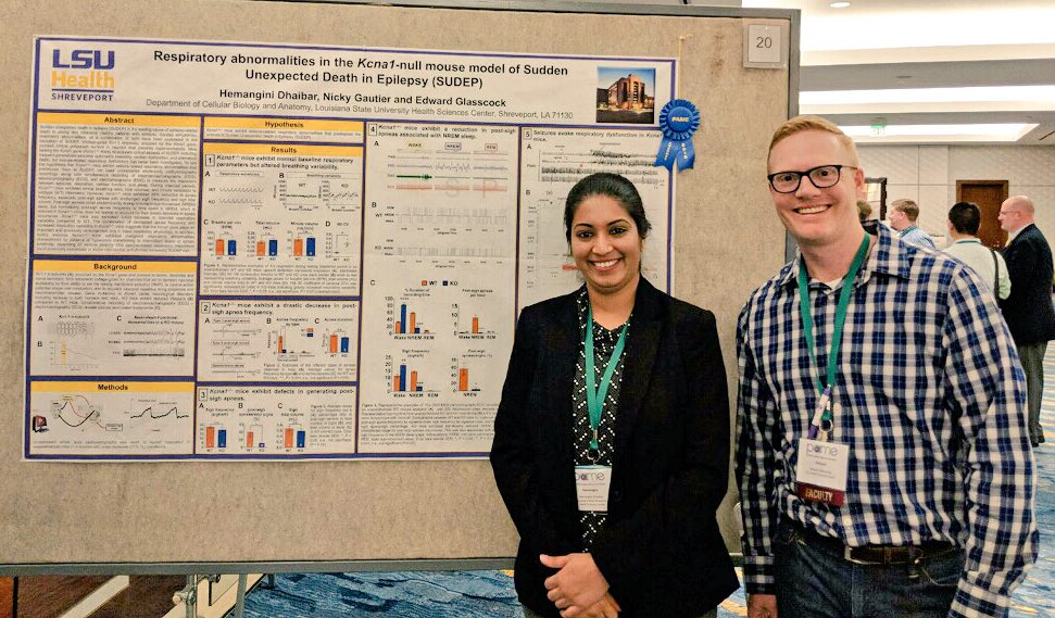 Hemangini Dhaibar and Dr. Glasscock during the poster session.