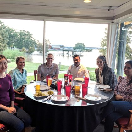 Lab dinner with Cathy Proenza from University of Colorado-Denver (September 19, 2018)