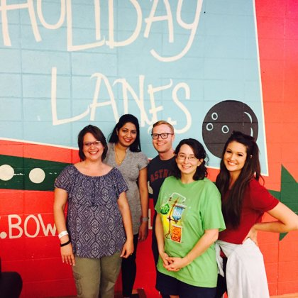 Lab party at Holiday Lanes in Bossier City (May, 2017)