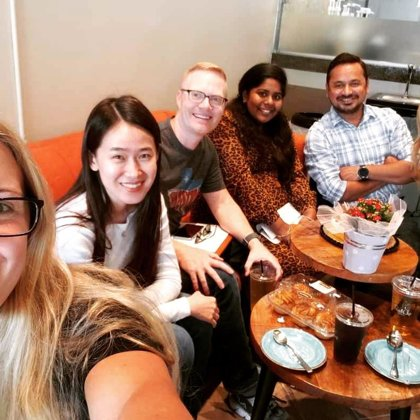 Dr. Glasscock's birthday celebration and Friday lab meeting over coffee (September 13, 201