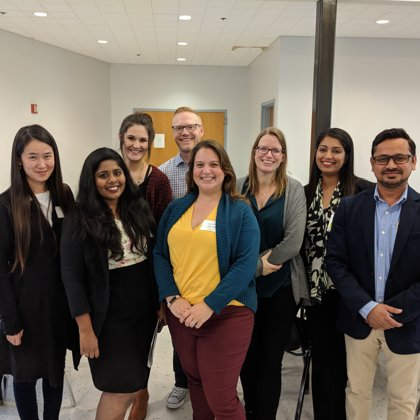 Lab picture at Research and Industry Day with Katharine Smith from UC-Denver. (October 26,